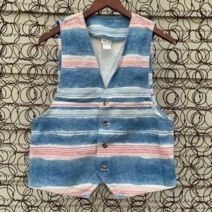 Vintage 90s Vivaldi red white blue striped vest